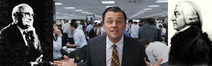 Friedman vs Wolf of Wall Street vs Adam Smith - social responsibility of business