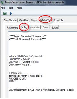 TM1 Contributor Views w/ TI Process