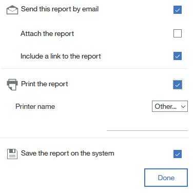 scheduling reports in Cognos BI