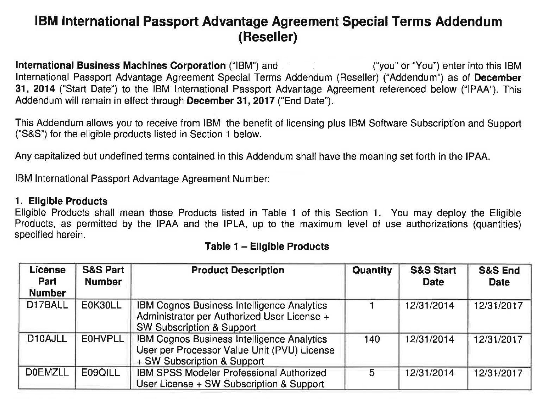 passport advantage