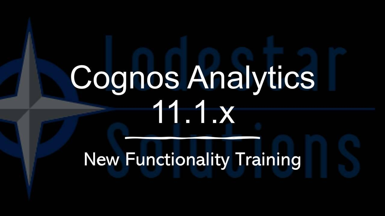 Cognos Analytics Online Training