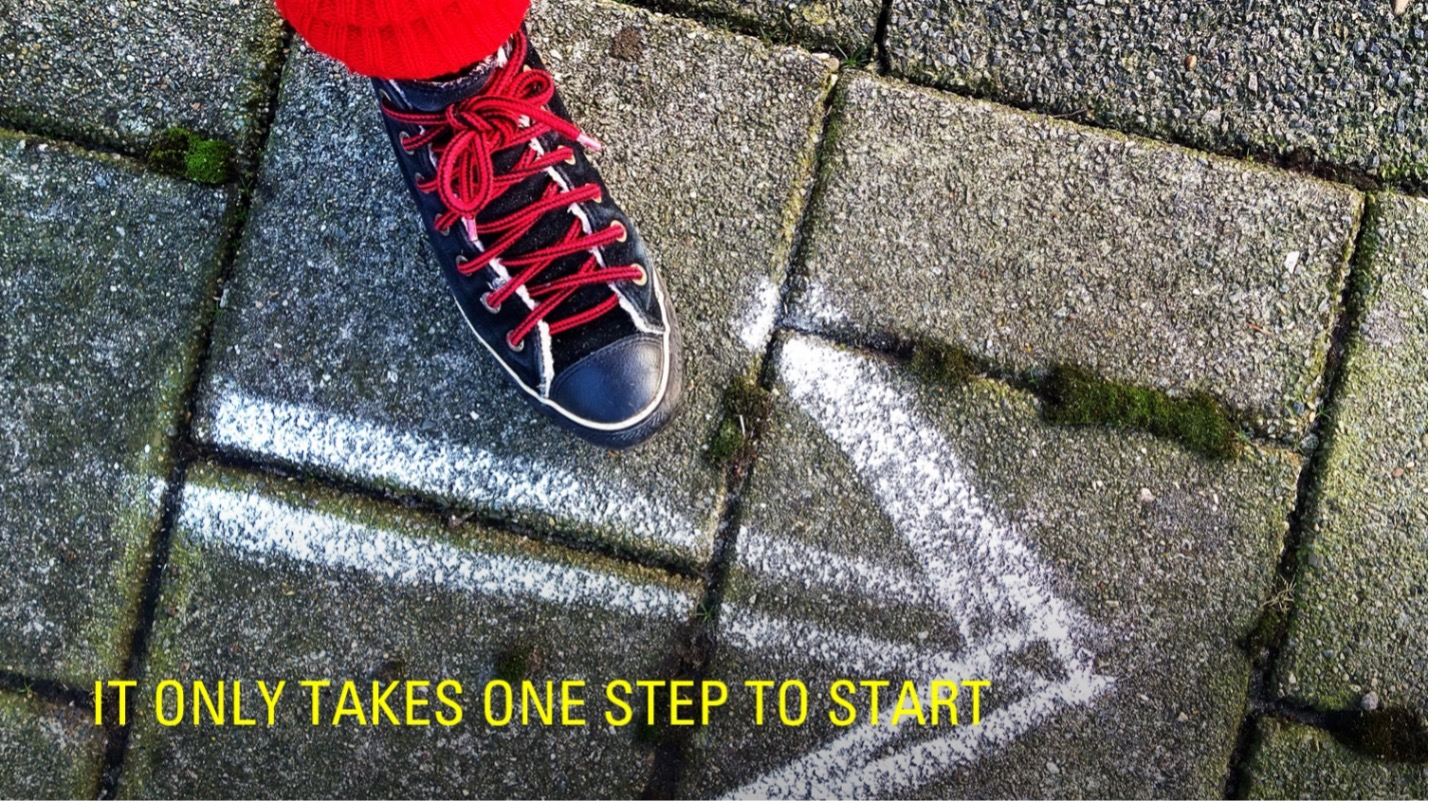 It Only Takes One Step to Start