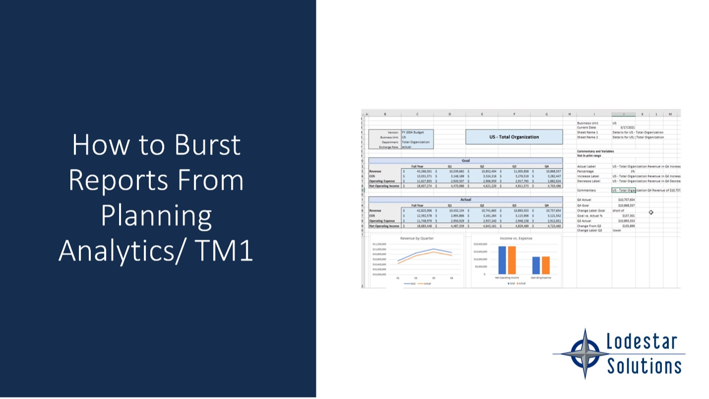 How to Burst Reports from IBM Planning Analytics
